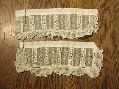ANTIQUE  LACE CUFFS SECTIONS ?   1800'S  HANDMADE