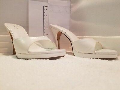 - Aldo Sandals High Heel Sexy Slide Slip on Mule Clog White 9 / 40 NWB