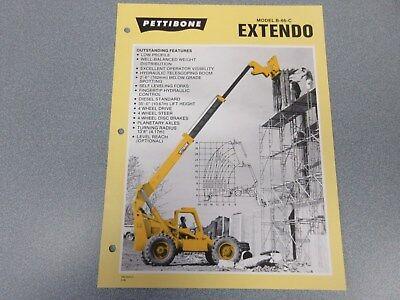 Rare Pettibone Extendo B-66-c Forklift Sales Sheet
