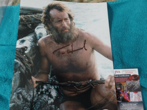 Tom Hanks  Autographed 11X14 PHOTO movie  Cast Away JSA Certified