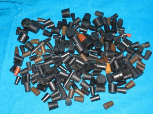 180 Rubber Stoppers, Size 00 to 6.5