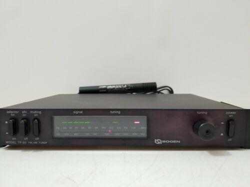 Bogen Communication TP-50  Professional AM-FM Tuner - Excellent! W/ Rack Mount!