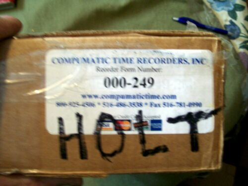 COMPUMATIC TIME RECORDERS INC. TIME CARDS 000-249 2000 COUNT