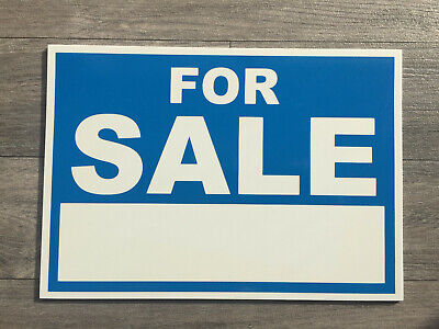 For Sale Sign.  Style 2. Plastic A4 Sign. Waterproof.  Size A4.  (ADD-18)