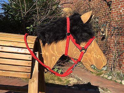 Holzpferd bewegl. Kopf ca.115 cm mit beweglichen Ohren - wetterfest lasiert
