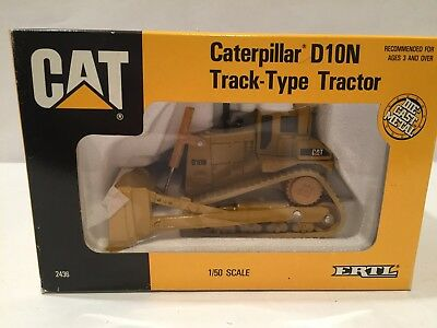Ertl 1 50 Die Cast Caterpillar D10n Track Type Tractor New In Box
