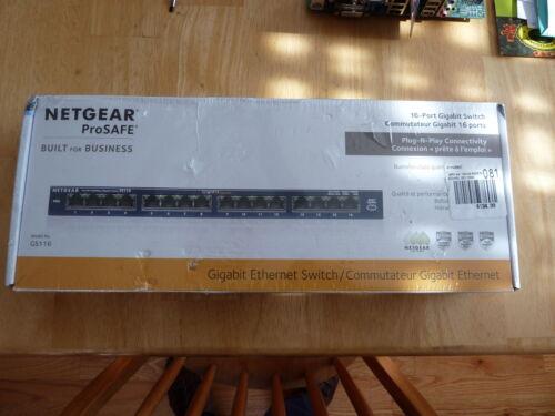 NETGEAR GS116 Prosafe 16 Port 10/100/1000 Gigabit Unmanaged Switch