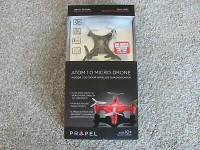Propel RC Atom 1.0 Micro Drone Indoor/Outdoor Wireless Quadrocopter Black OD2104