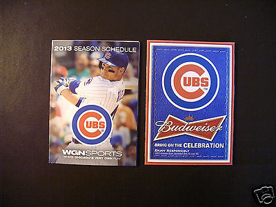 Chicago Cubs 2013 Mlb Pocket Schedule   Anthony Rizzo   Budweiser