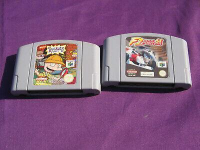 Rugrats Treasure Hunt + F1 Pole Position 64 N64 Nintendo 64 - No Cases