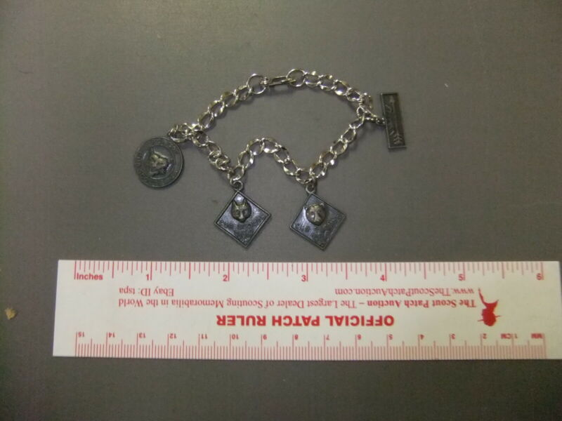Boy Scout Cub Scout Charm Bracelet STERLING 0051HH