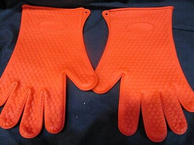 1 PR NEW SILIONE ALL PURPOSE RUBBER GLOVES BBQ HEAT RESISTANT CLEANING HOME PETS