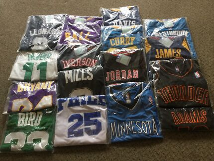 NBA player jersey singlets NEW with tags