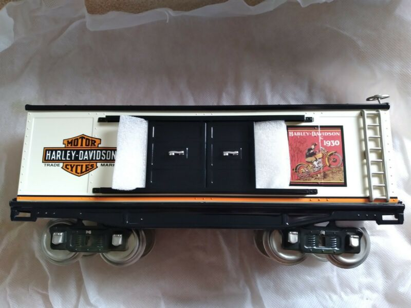 MTH Standard Gauge Tinplate 200 Series Harley Davidson Box Car 10-2089 USED