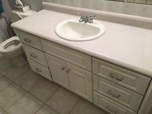 Bath room Vanity for sale includes sink and faucet