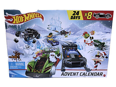 Hot Wheels 2019 Advent Calendar Vehicles Collectible Gift Mattel Christmas