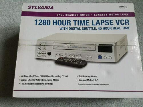 SYLVANIA SY96R-A 4 Head VHS VCR Video Cassette/Tape Recorder/Monitoring/Remote