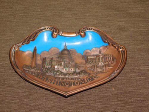 """VINTAGE 7 1/4"""" ACROSS SOUVENIR WASHINGTON DC US CAPITOL  COPPER 3D WALL HANG"""