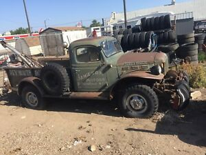 Looking for an old dodge or Fargo power wagon