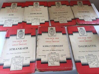 Vintage Maps Scotland Antique Ordnance Survey One Inch Scottish Counties