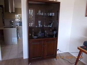 Solid timber display cabinet Colyton Penrith Area Preview