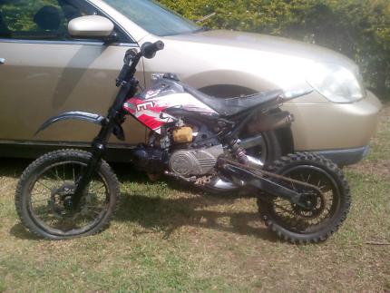 110 semi auto pit bike dirt trail thumpster