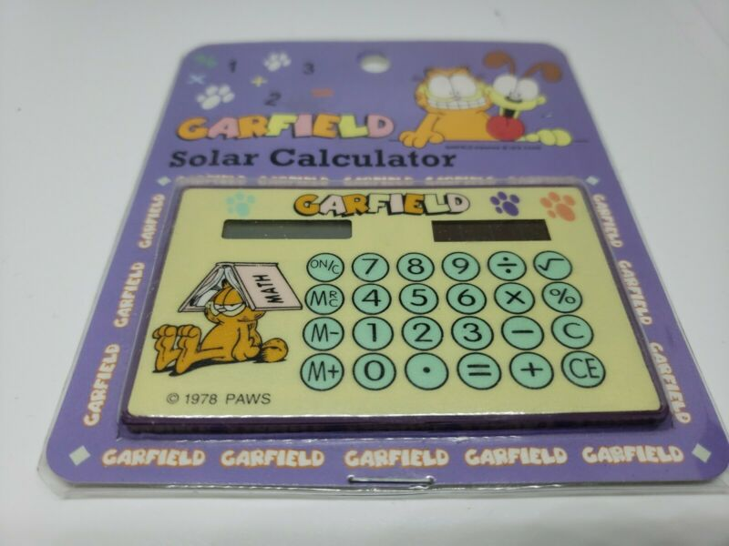 Garfield pocket Calculator Vintage 1978 paws new in package still works great