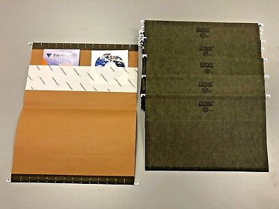 Legal Hanging File Folders Lot Of 60 Oxford W Info Pockets