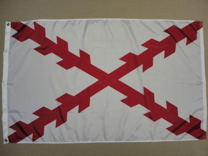 Cross of Burgundy Indoor Outdoor Dyed Nylon Historical Flag Grommets 3
