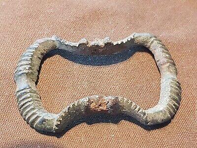 Lovely rare 16 early 17 hundreds bronze buckle. Please read description. L39w