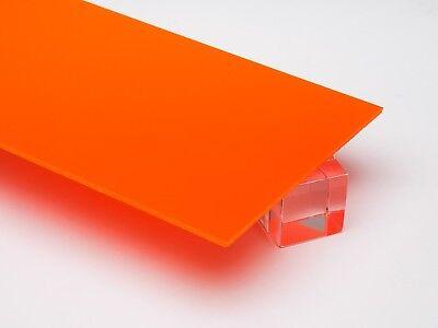 18 Solid Orange Acrylic Plexiglass Opaque Sheet 12 X 12 Azm
