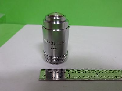 Microscope Leitz Wetzlar Germany Objective Npl 16x Optics As Is Bin2b-e-14