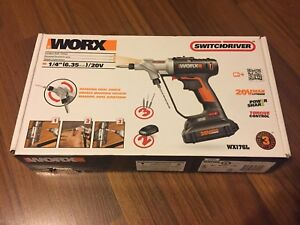 NEW - WORX 20V Max Li-Ion Cordless Switchdriver
