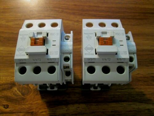 LOT OF 2 Benshaw Magnetic Contactors RSC-32 NEMA Size 1 USED W/AUX, 120V Coil