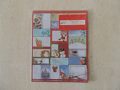 ~~HOLIDAY Time ~~~Sticker  Christmas  100 peel n stick  tags