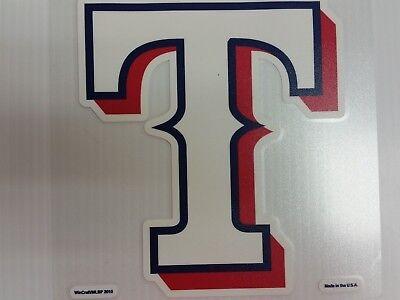 Wincraft Texas Rangers Decal (Texas Rangers Colored Window Die Cut Decal Wincraft Sticker 8x8)