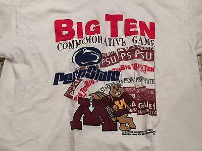 1993 Minnesota Golden Gophers Penn State Nittany Lions Football T Shirt L (Gold Penn State Nittany Lions Football)