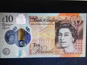 Unreleased New £10 10 Pound Note Earliest Serial Number Sent On Release date