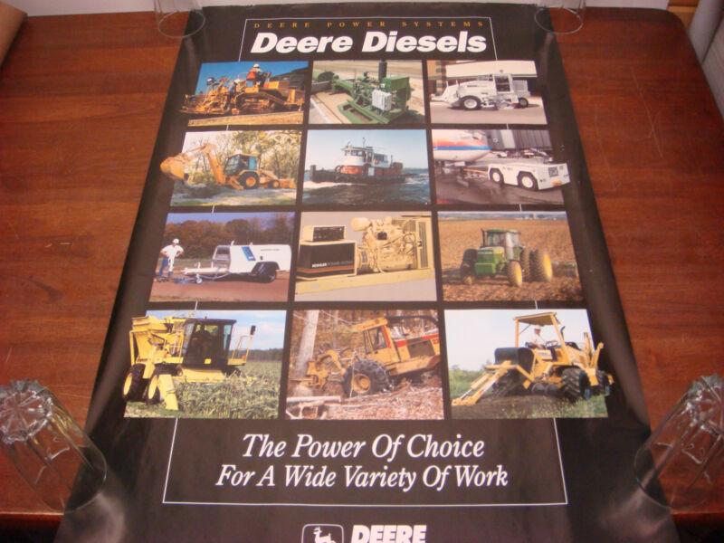 1992 John Deere Original Dealer Poster Power Systems Diesels 24 X 37 Sale P-2