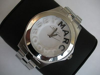MARC BY MARC JACOBS RIVERA LADIES STILL SILVER TONE WATCH MBM3133 RARE NEW W/BOX