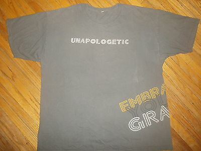 SAVING GRACE TV SHOW T SHIRT Embrace Your UNAPOLOGETIC Holly Hunter Hanadarko XL