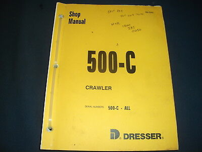 Komatsu Dresser 500 C Crawler Tractor Dozer Service Shop Repair Workshop Manual