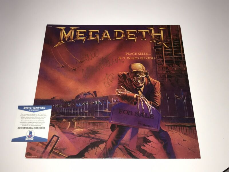 Megadeth Dave Mustaine Signed Peace Sells But Who