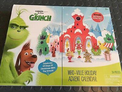 The Grinch Advent Calendar 2018 Who-Ville Advent Dr Seuss Ornament Figures
