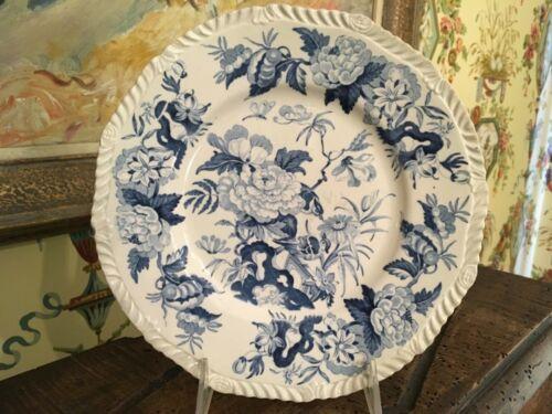 Antique English Blue & White Transferware Pottery Plate Circa 1825