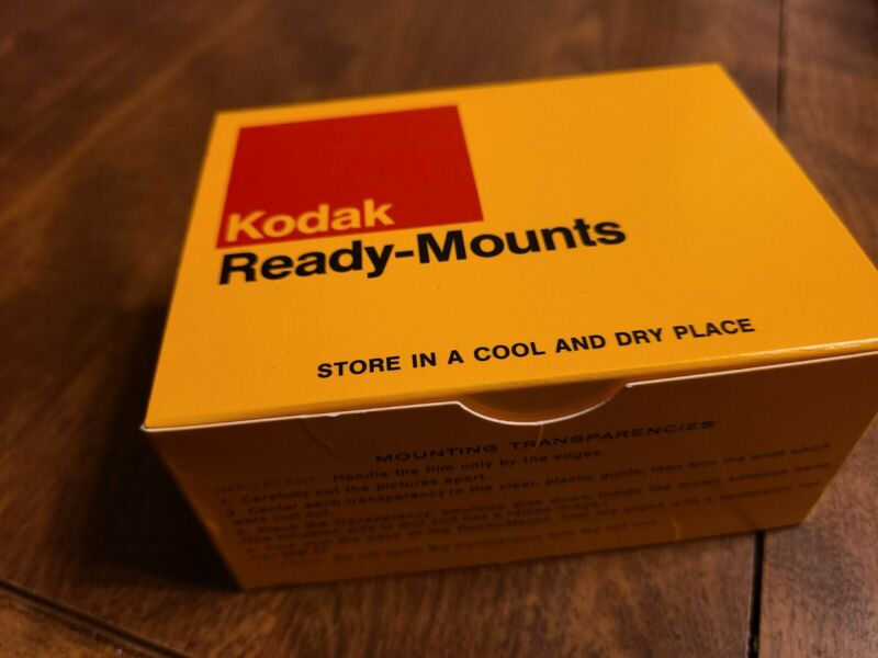 "2x Kodak Ready Mounts 2"" x 2"" For 24 X 36 mm slides 135 SIZE. BOX of 100"