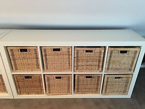 Ikea Expedia bookcase including the 8 baskets - moving sale PU 2025 Woollahra Eastern Suburbs Preview