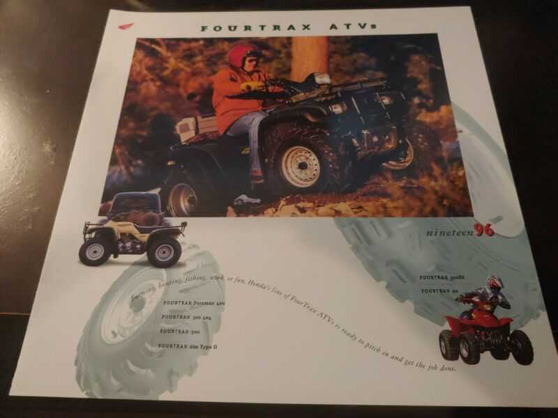 VTG 1996 NOS HONDA FOURTRAX ATV BROCHURE