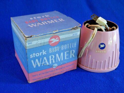 VINTAGE ~ STORK ~ BABY BOTTLE WARMER in original box
