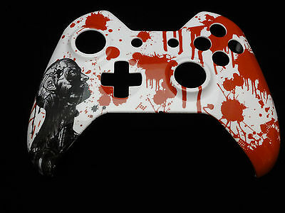 Blood Zombie Hydro Dipped  Front Shell For Xbox One Controller   New
